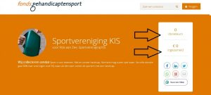 Digitale collectebus Fonds Gehandicaptensport KIS